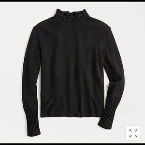 JCrew ruffle neck sweater